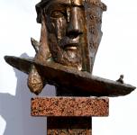 R. Midvikis skulpturinis ekslibrisas Hemingvėjaus Seniui ir jūrai