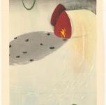Kyoko Sakamoto. Field, Collar, Shade. 2002. Paper, woodblock print, 90x55