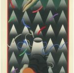 Akira Kurosaki. Lunar Eclipse. 1982. Paper, woodblock print, 36x25
