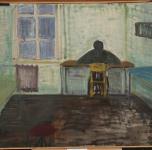 """Jūratė Mikailionytė """"Sėdinti prie stalo"""", 1994"""