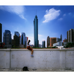 """Kinijos šiuolaikinio meno paroda """"Kas aš? 798 įspūdžiai"""". Weng Fen """"Ant sienos"""""""