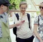 """Jurijaus Štapakovo ir Aleksandros Gart projektus """"Aukštai pakilęs vanduo"""" ir """"Gatvės emocijos. Daugiau balandžių Klaipėdai"""""""