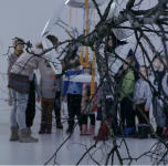 """Ekskursija po parodą """"Islandija. Kvadratinė šaknis iš 13 horizonto"""" su Klaipėdos darželio """"Ąžuoliukas"""" 3 grupės vaikai/ 2019 03 06"""