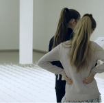 """Pažintinė ekskursija po Povilo Ramanausko """"Keliaujantis potėpis"""", Rosandos Sorakaitės """"Atminties spalva"""" ir Dalios Truskaitės """"Ne apie"""" parodas. 2019 04 10"""