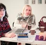 """Kūrybinės trijų dienų dirbtuvės """"Nuo kūrybos prie derybų, arba idėjos, kurios parduoda"""", 2018 11 19/ Nuotr. Donato Bielkausko"""