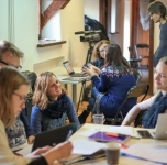 """Kūrybinės trijų dienų dirbtuvės """"Nuo kūrybos prie derybų, arba idėjos, kurios parduoda"""", 2018 11 20/ Nuotr. Donato Bielkausko"""